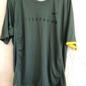 Vintage Nike living strong T-shirt Dri- Fit L